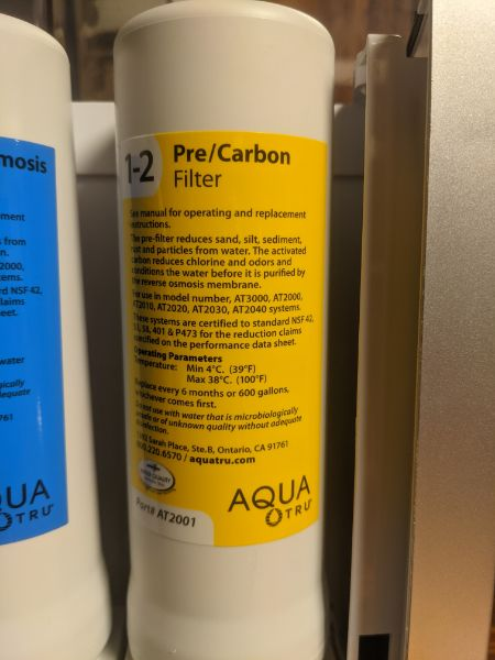 aquatru pre filters stages 1 and 2