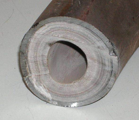 limescale in pipe
