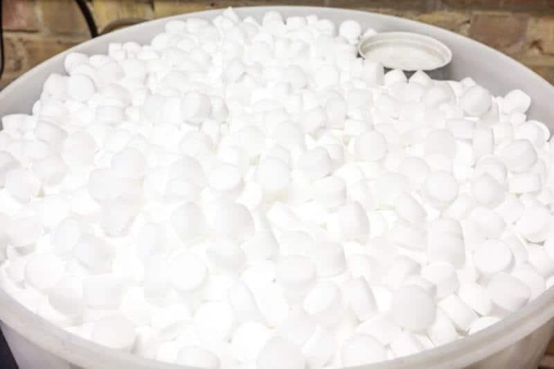 salt in water softener brine tank