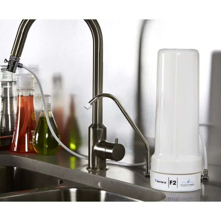 Home Master Jr. F2 sinktop water filter features