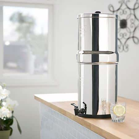 countertop gravity fed water filter
