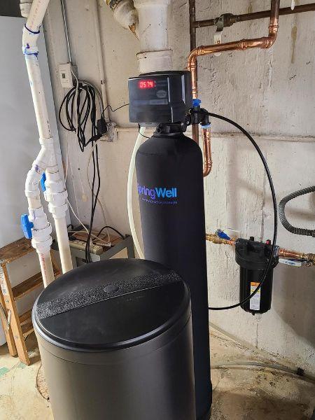 springwell salt based ion exchange water softening system