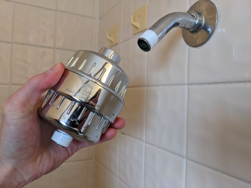 aquahomegroup filter shower head instllation