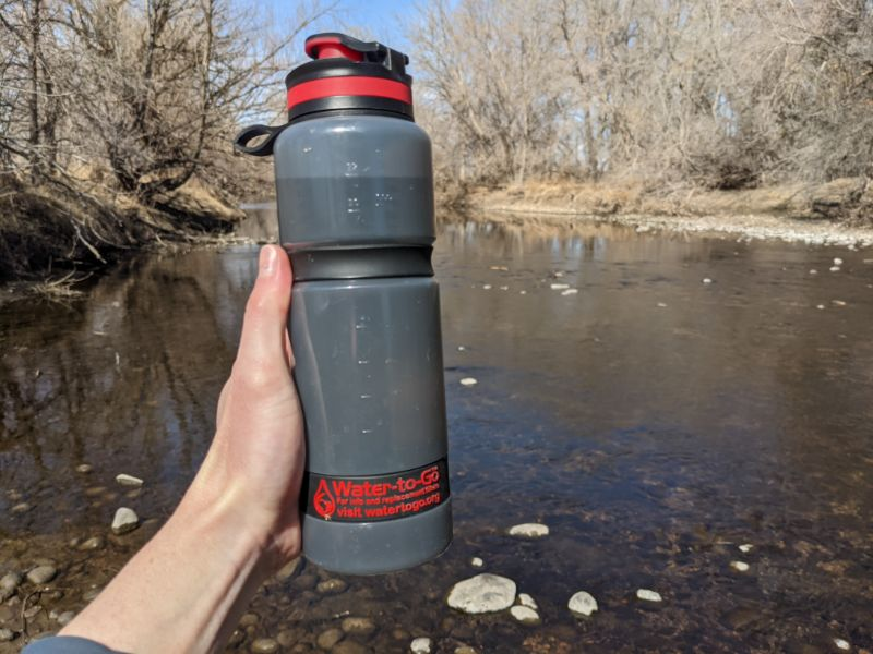 filtered water bottle water-to-go