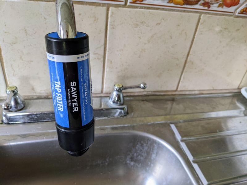 sawyer tap filtration system