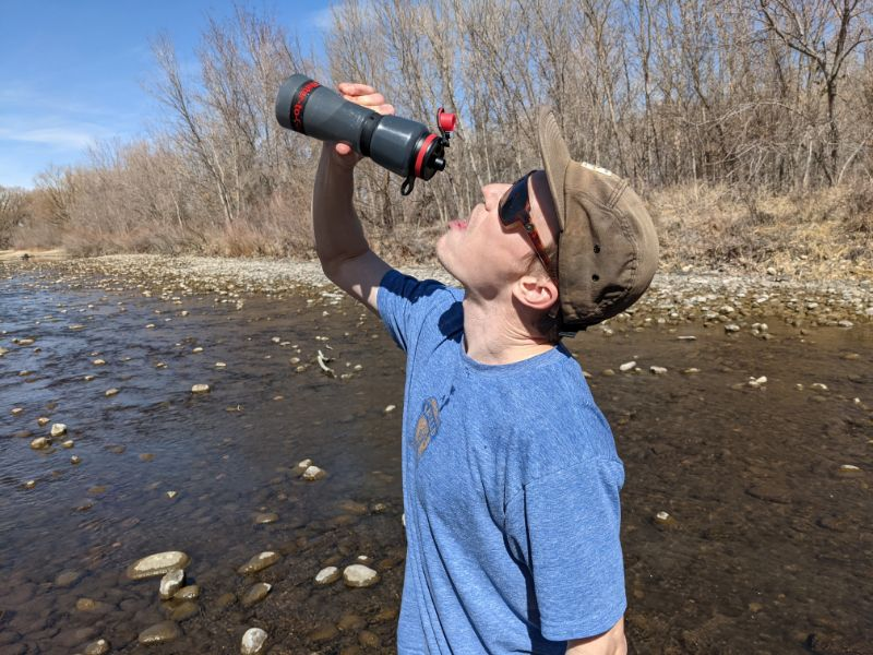 water-to-go bottle filtration rate
