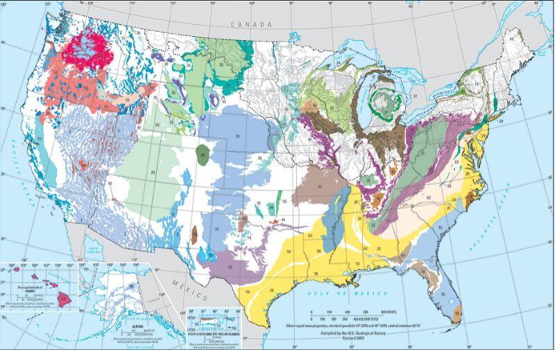 Principal Aquifers in the US
