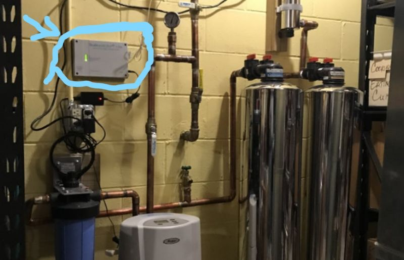 electronic water descaler installation