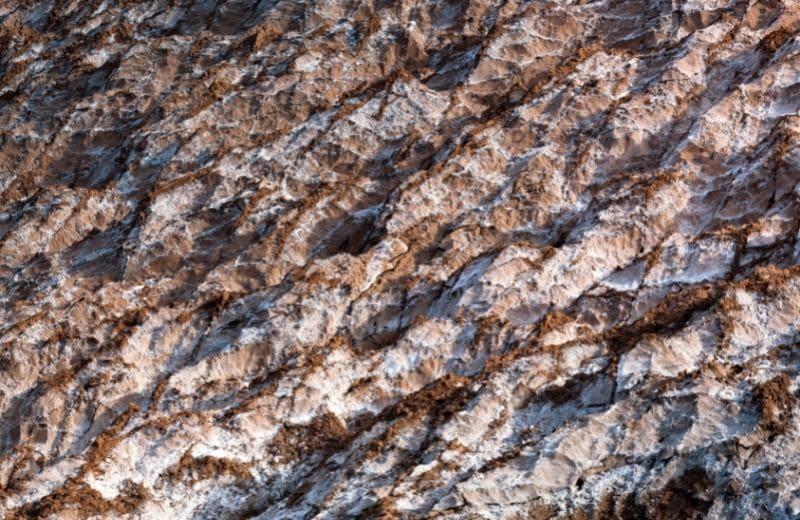 natural erosion of salt deposits