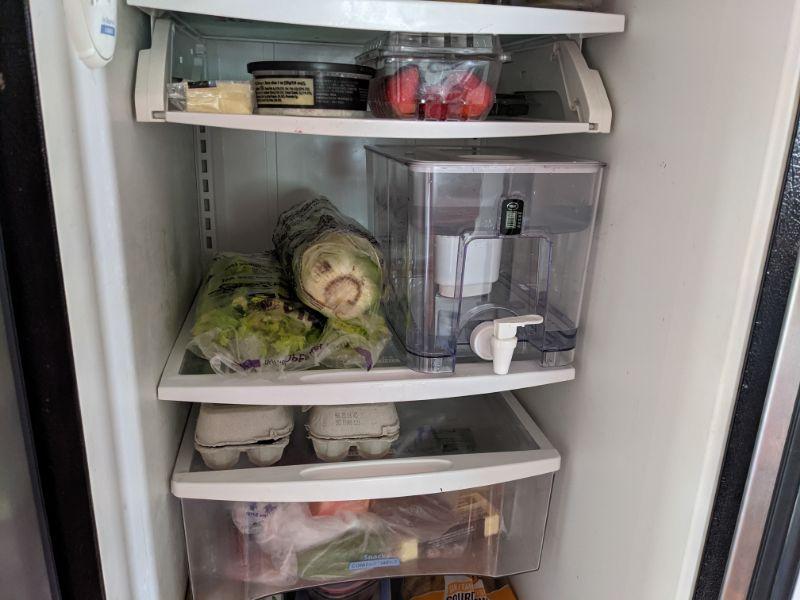 epic water filters pure dispenser in fridge